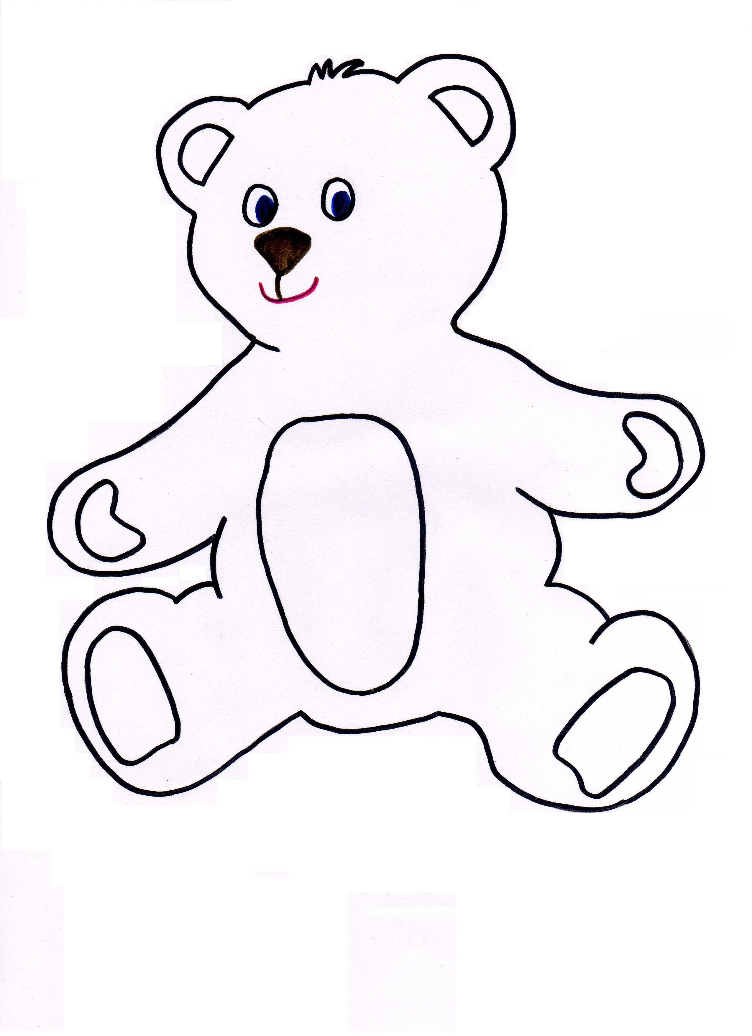 Teddy Bear Templates - ClipArt Best