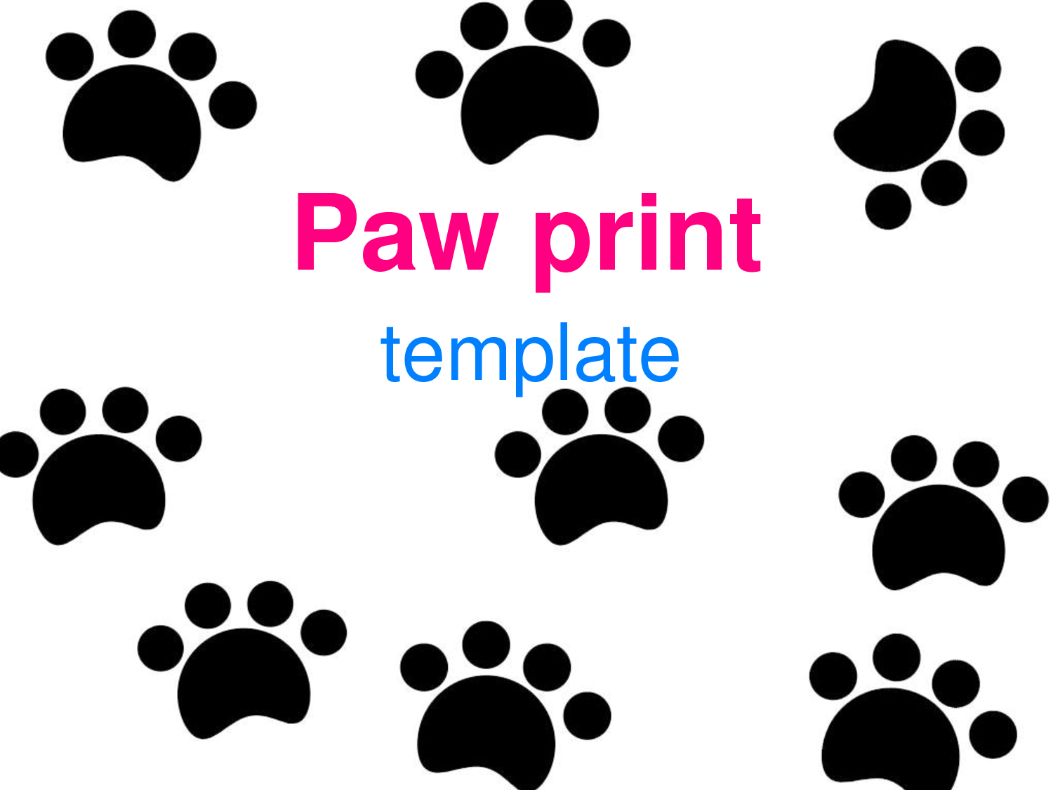 Bullet Point Clipart Paw print template - clipart