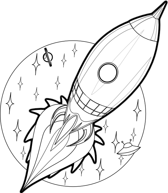 Line Art Rocket : Rockets line drawing clipart best