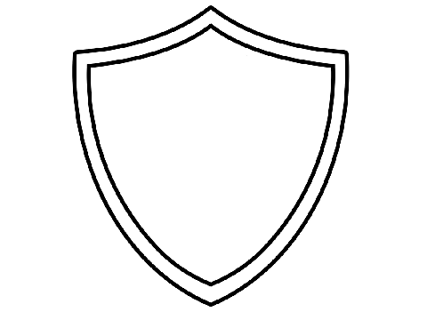 coloring pages american shield - photo#19