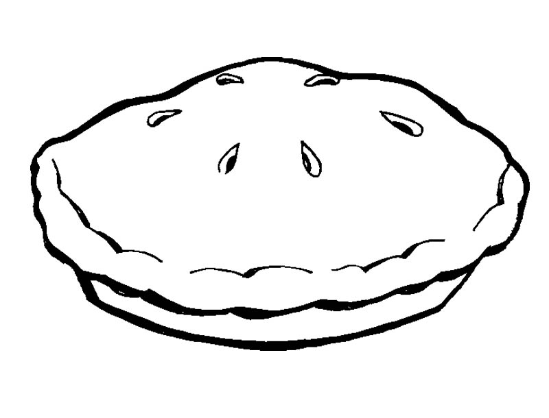 pie coloring pages - coloring picture of pie clipart best