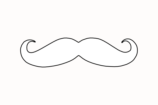 Free printable mustaches clipart best for Moustache coloring pages