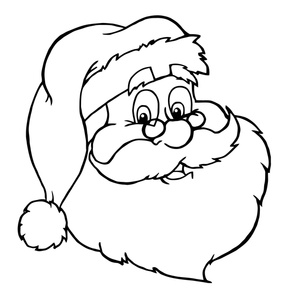 Black And White Pictures Of Santa Claus - ClipArt Best