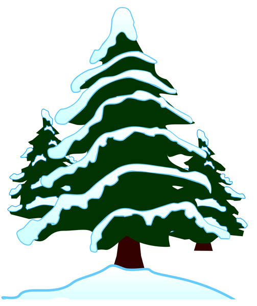 Snowy Pine Trees Clip Art In snow - free clip art