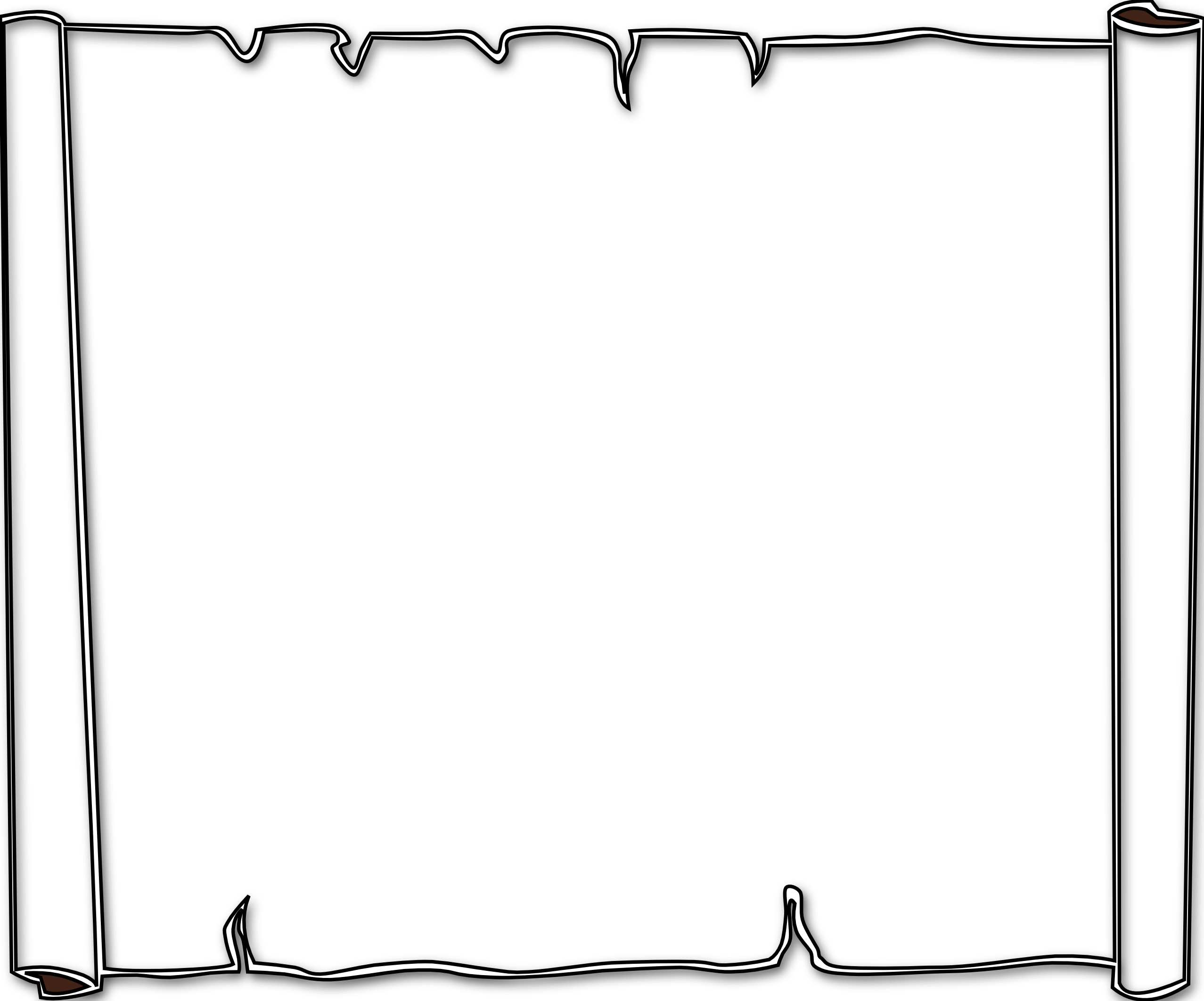 free black and white clip art borders - photo #50