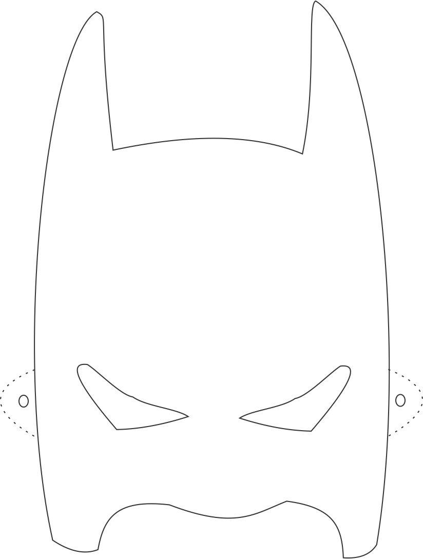 Как сделать маску бэтмена своими руками