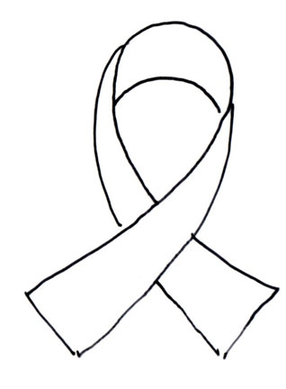 Printable breast cancer ribbon clipart best for Cancer ribbon coloring pages