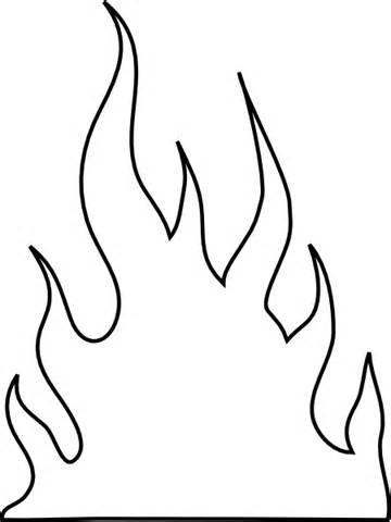 fire flames coloring pages | Printable Fire Flames - ClipArt Best