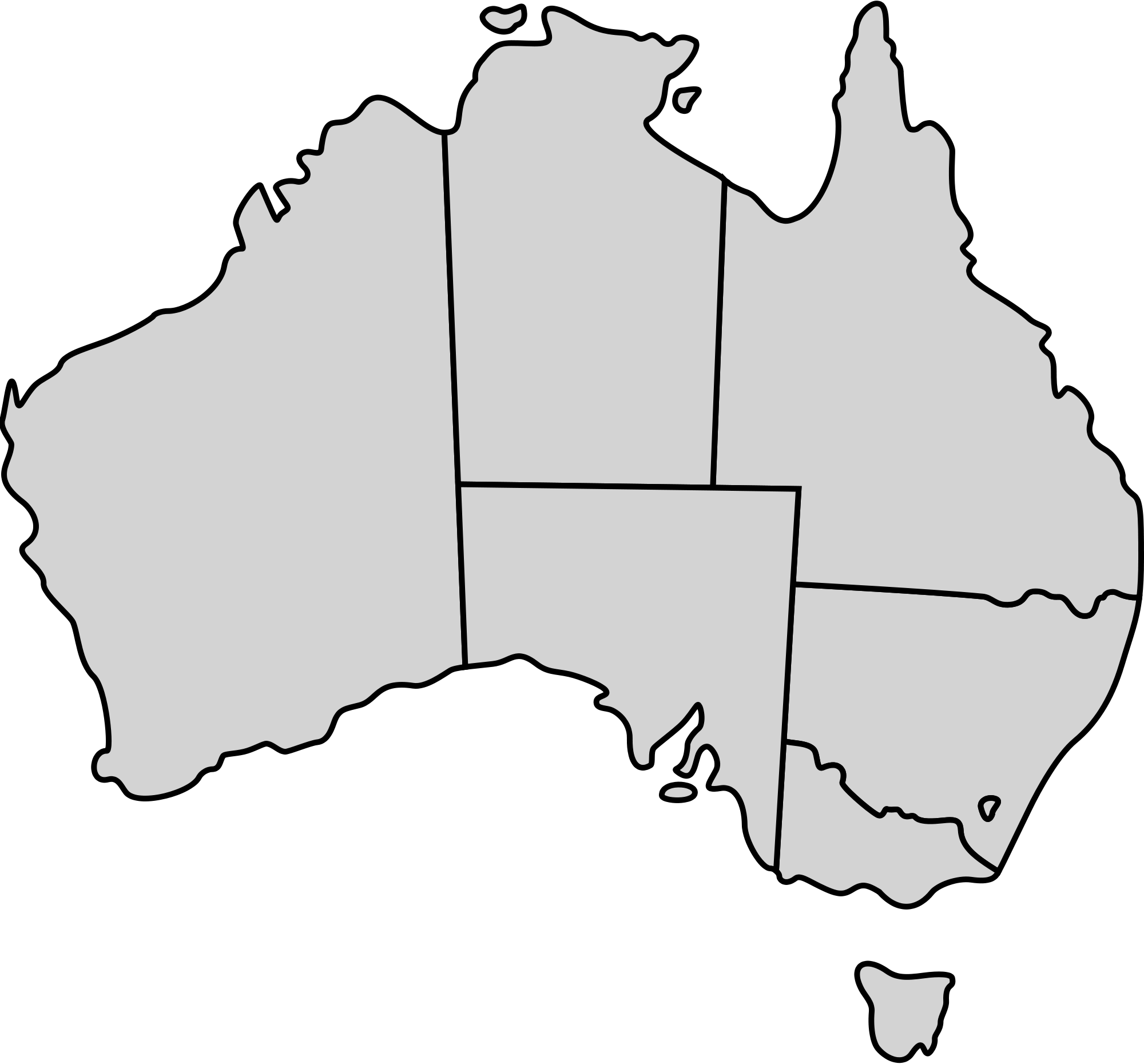clipart map of tasmania - photo #47