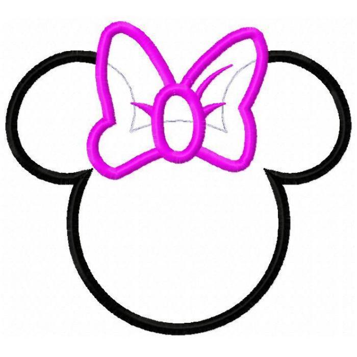 Minnie Mouse Head Cutouts Clipart Best