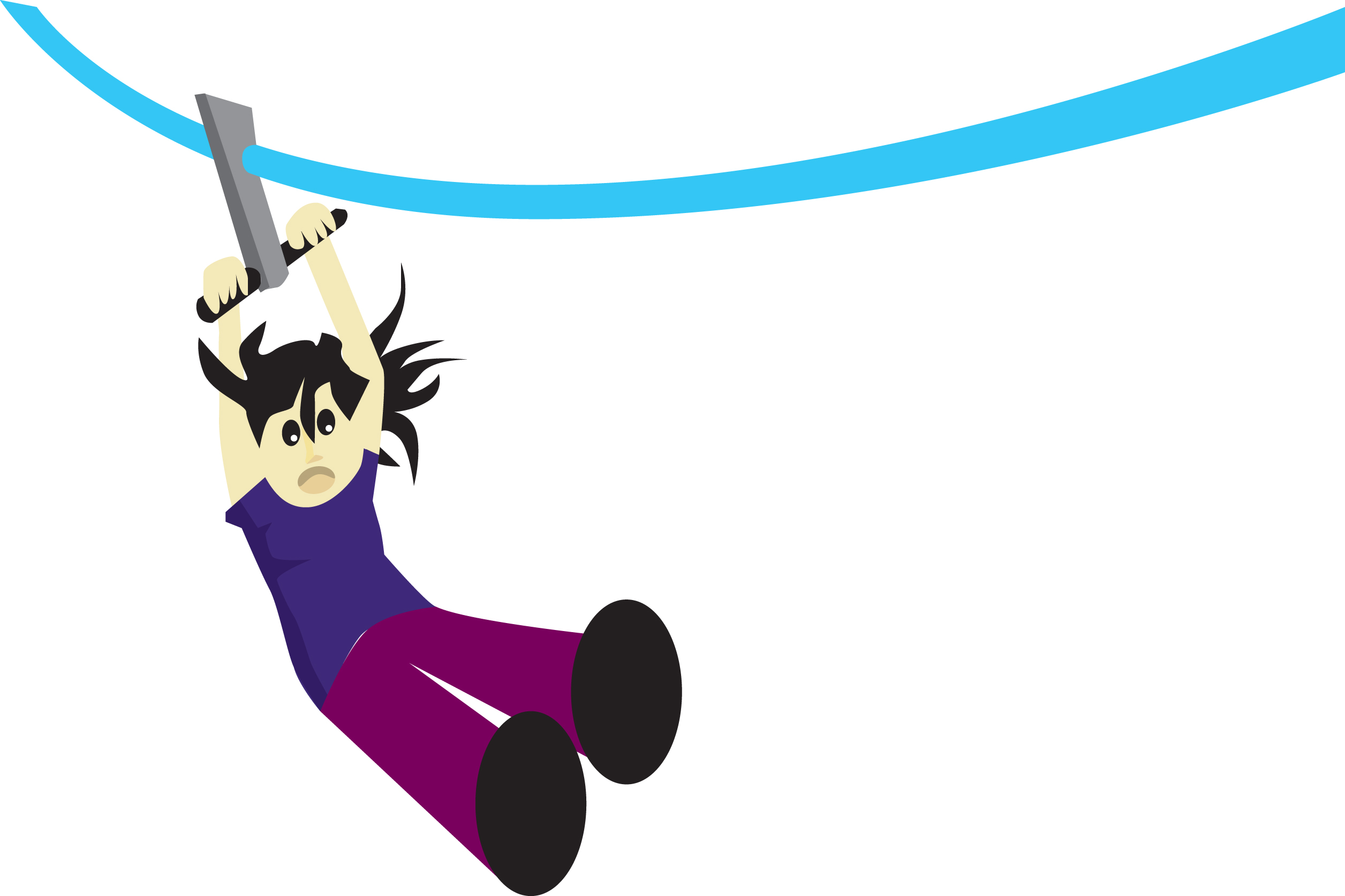 Zip Line Clipart : Zip line cartoon
