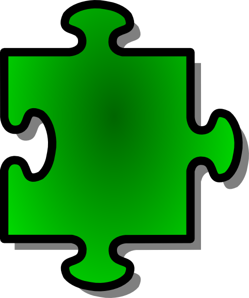 Jigsaw Green Puzzle Piece clip art - vector clip art online ...