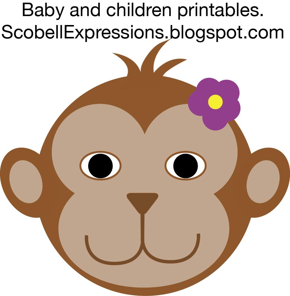 clipart monkey face - photo #23