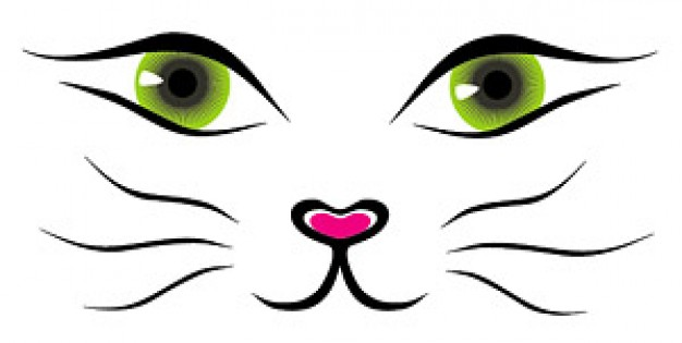 Line Drawing Of A Cat Face : Cat face outline clipart best