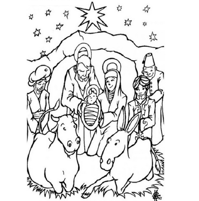 Jesus Christ Colouring Pages