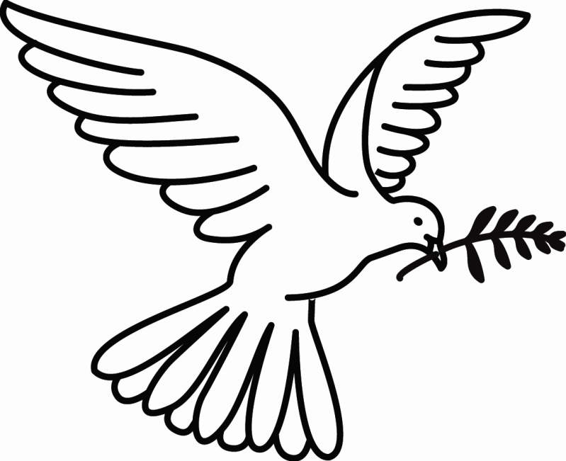 Dove Of Peace Coloring Page Dove Of Peace Clipart Best Peace Dove Coloring Page