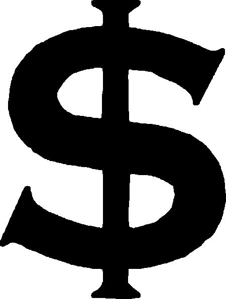 Black Dollar Sign Clip Art