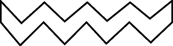 Line Drawing Of Zig Zag : White zig zag hi clipart best