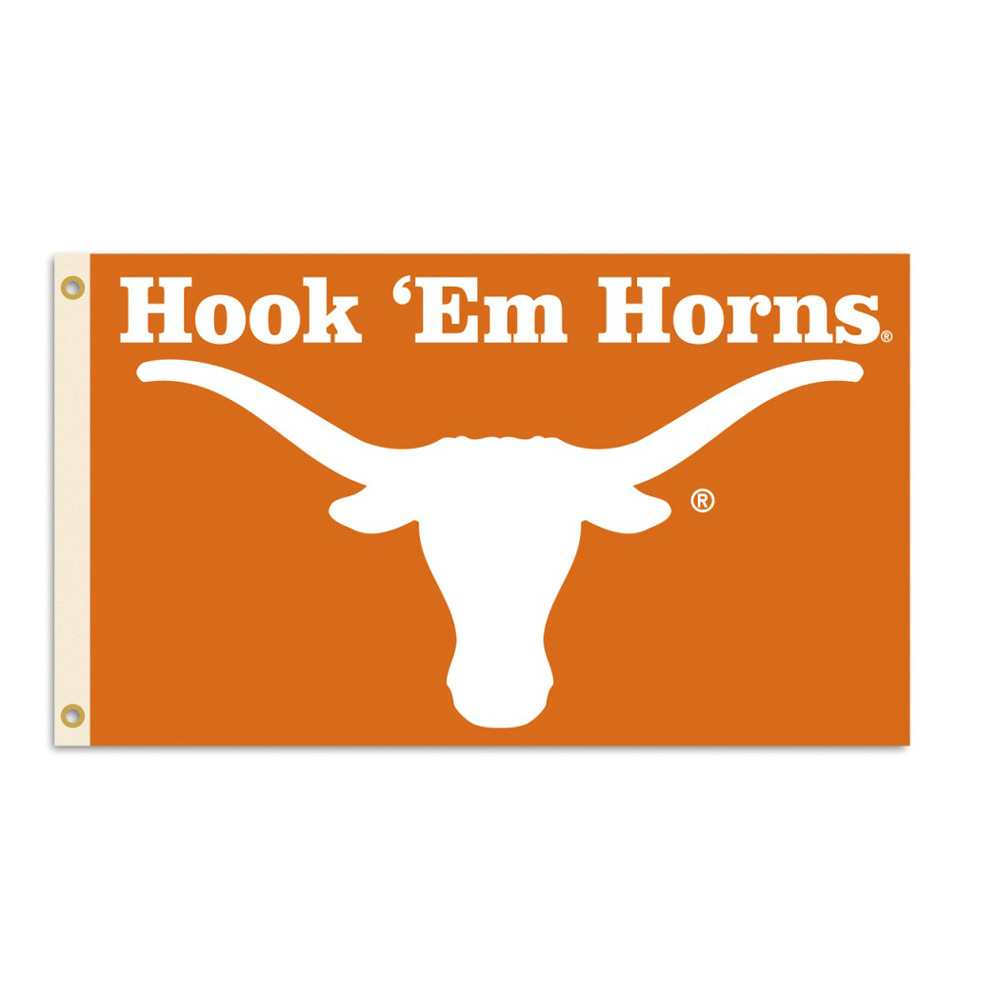 "Texas Longhorns 3ft x 5ft Team Flag - ""Hook 'Em Horns"""