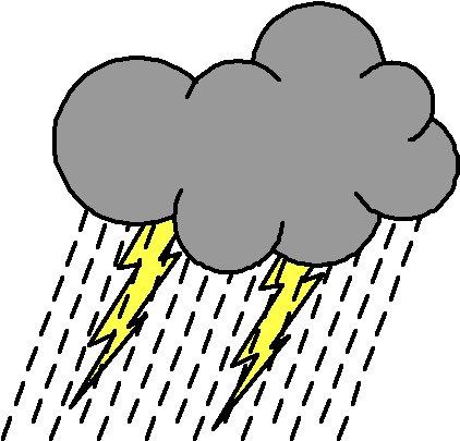 Thunder Clipart Storm - Cartoon Thunder And Lightning ...   Cartoon Storm
