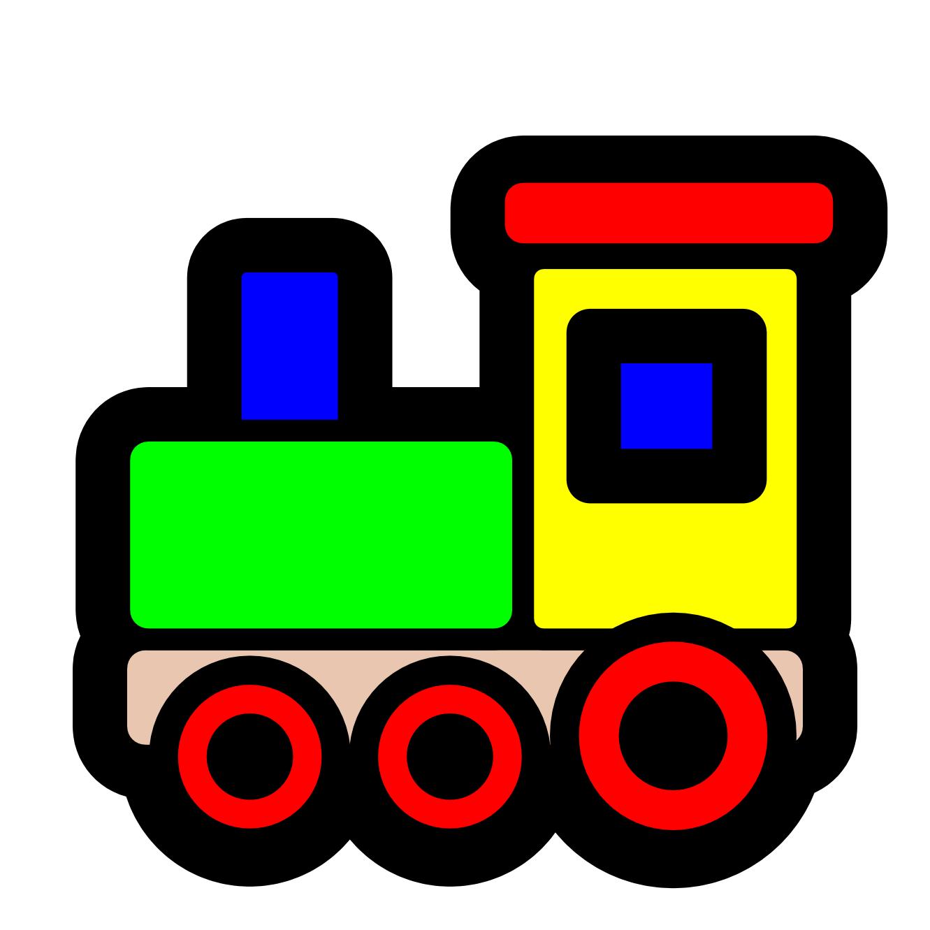 pitr toy train icon SVG
