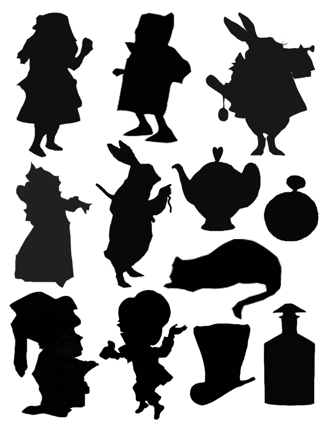 Images For > Alice In Wonderland Silhouette Clip Art