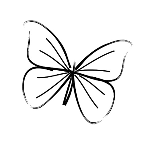 Simple Butterfly Sketches Simple Butterfly Drawi...