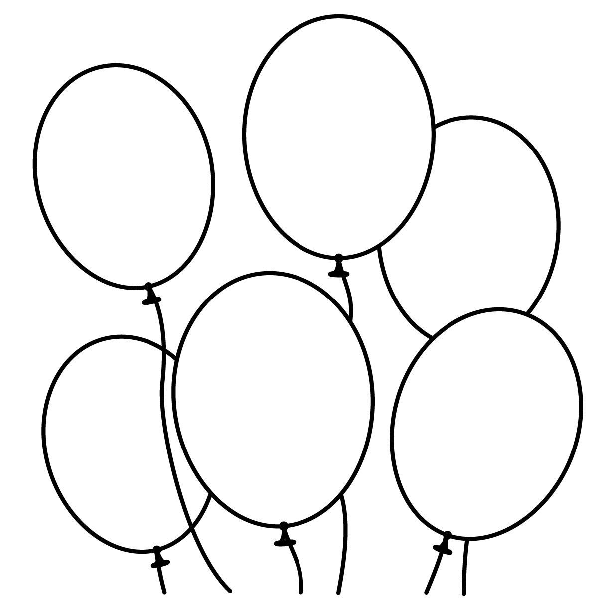 Balloons Clipart Black And White - ClipArt Best