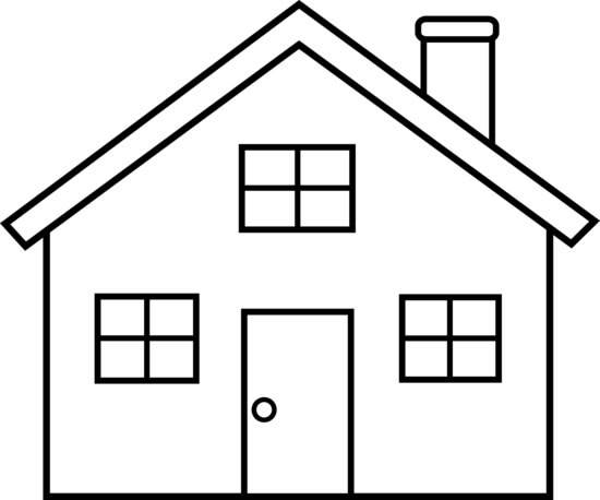 simple house drawing clipart best