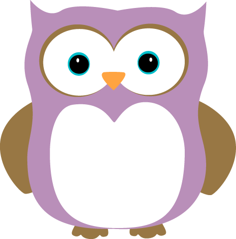 Purple and Brown Owl Clip Art | Clipart Panda - Free Clipart Images