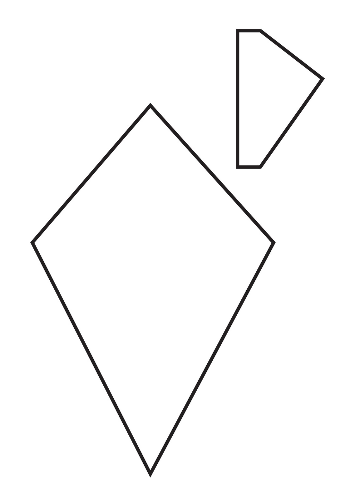 Large Kite Template - ClipArt Best