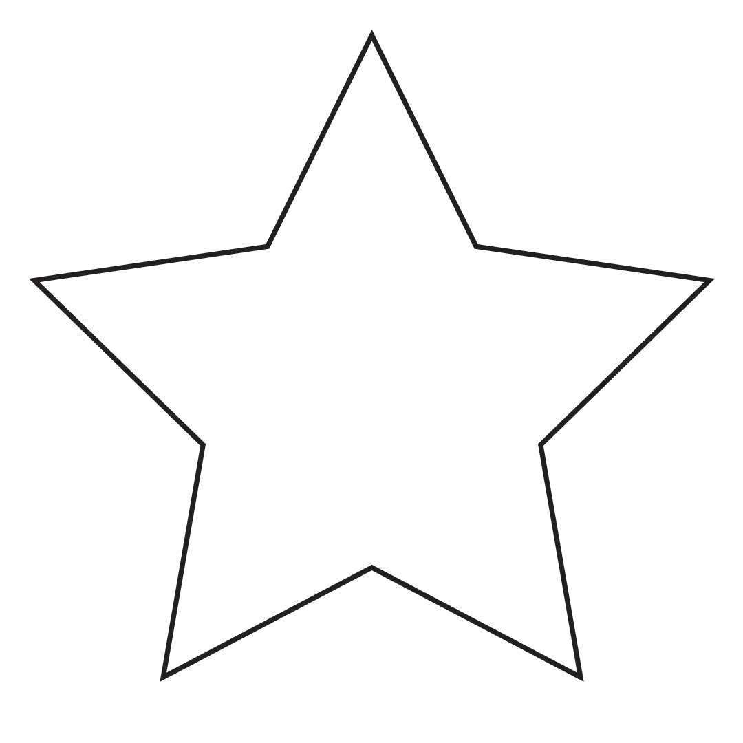 Blank Star Outline 66