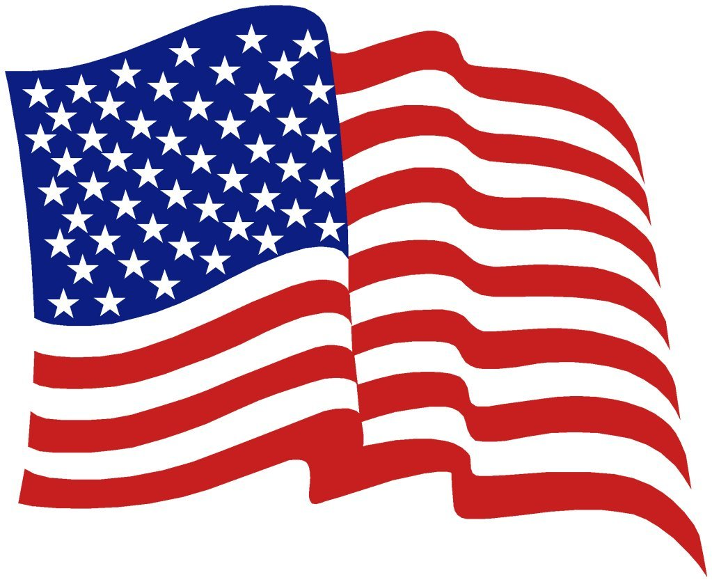 Free Clipart American Flag Waving