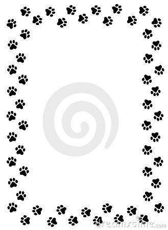 black paw print wallpaper border - photo #9