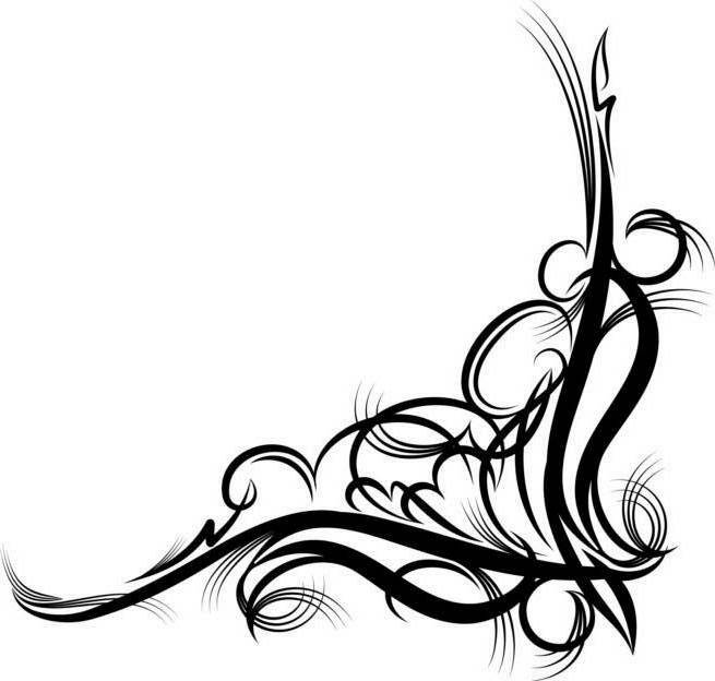 Corner Scroll Design - ClipArt Best