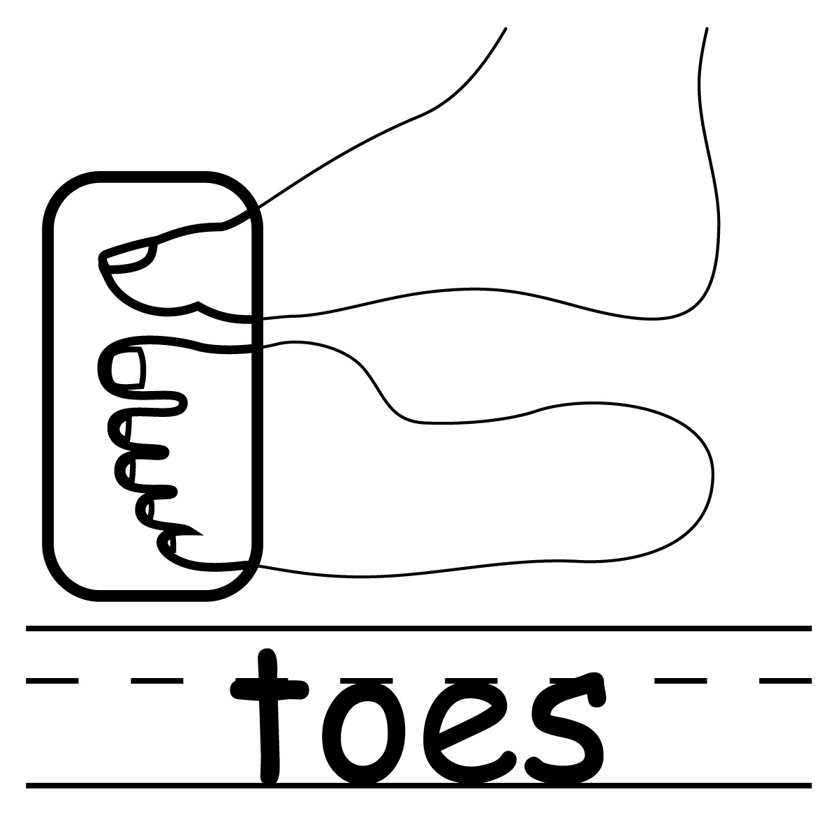 toes clipart black and white clipart best