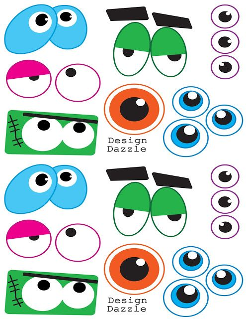 printable for balloon monsters - eyes | Monster | Pinterest