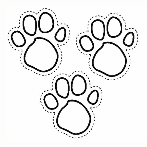 Cat Paw Coloring Page Colouring Pages