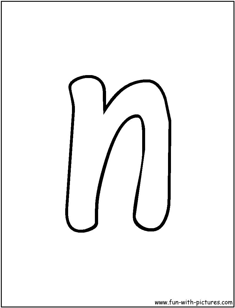 N In Bubble Letters Bubble Letter N - Clip...