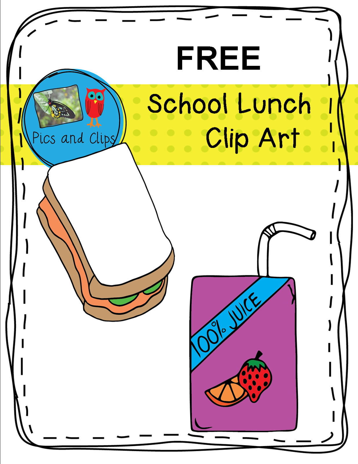 School lunch ideas clipart