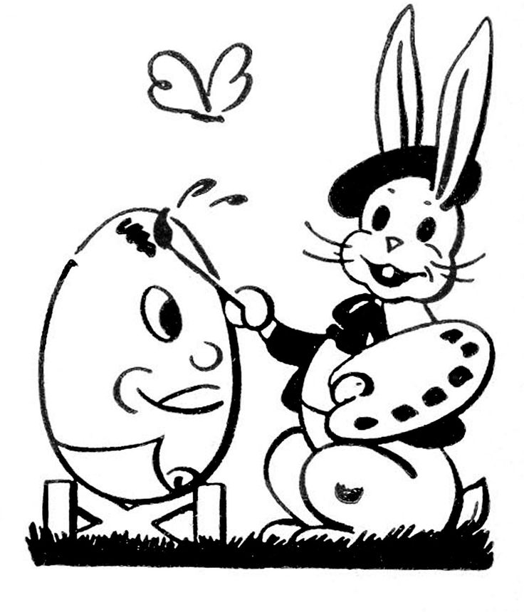 Line Drawing Easter Bunny : Easter bunny line art clipart best