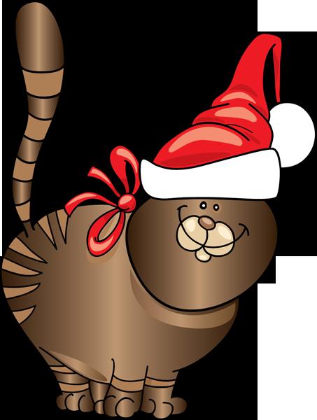 free christmas kitten clipart - photo #6