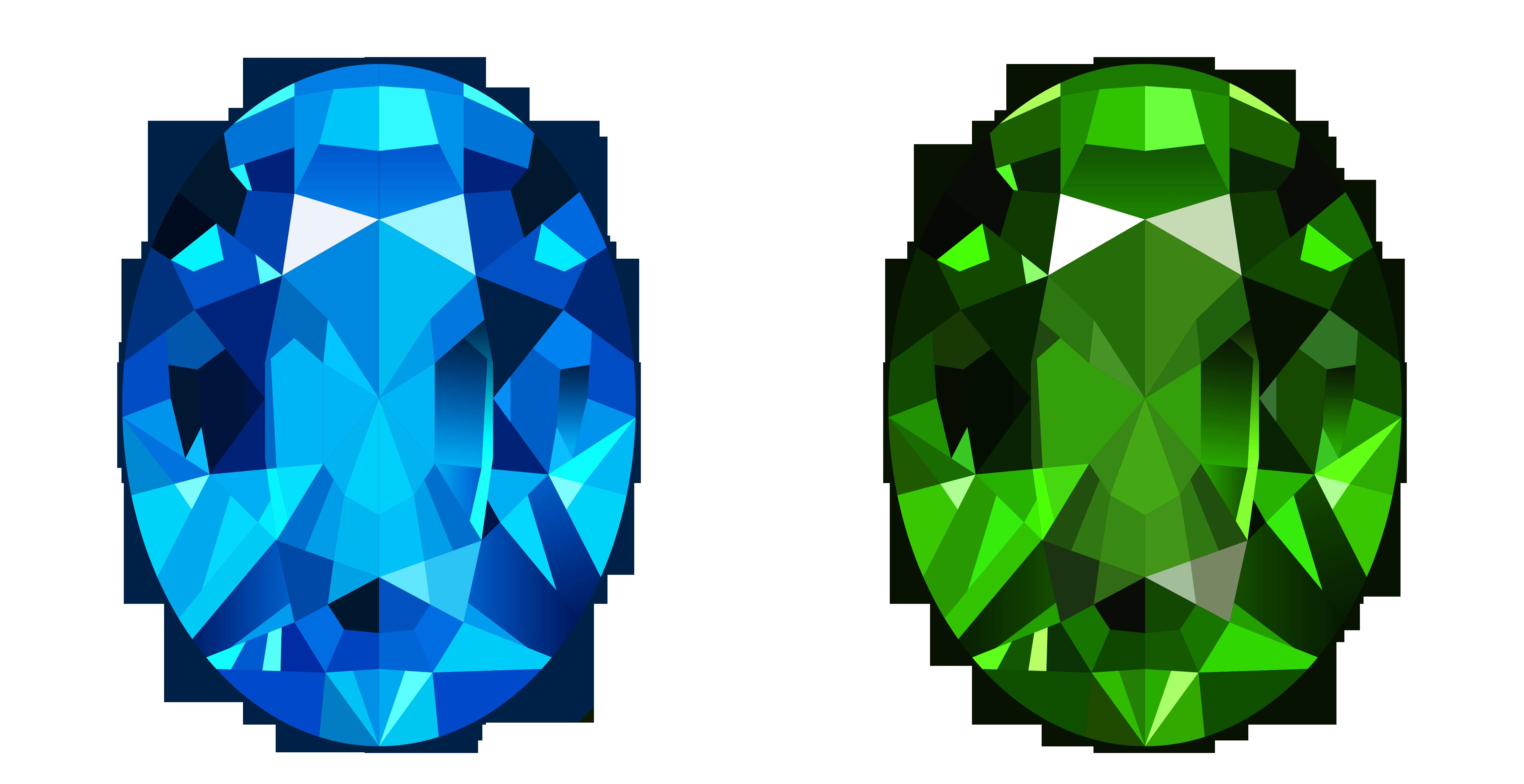Blue Cartoon Diamonds - ClipArt Best