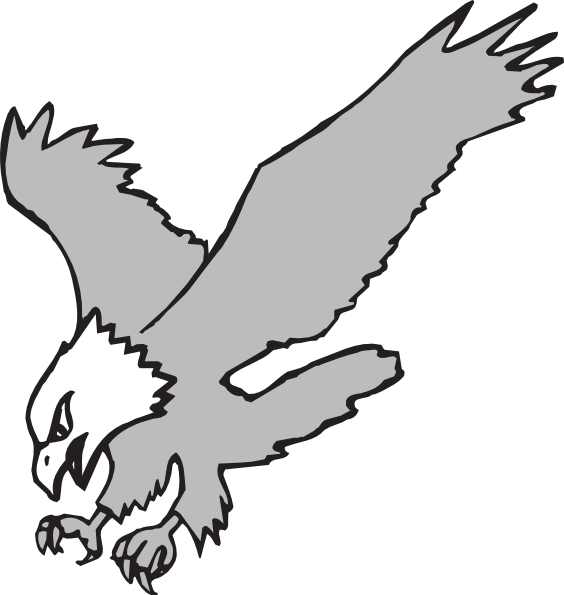 Grayscale Hunting Eagle Clip art - Animal - Download ...