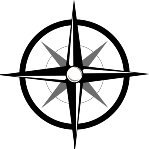 Simple Compass clip art - vector clip art online, royalty free ...