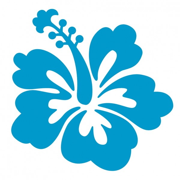 Blue Hibiscus Flower - ClipArt Best