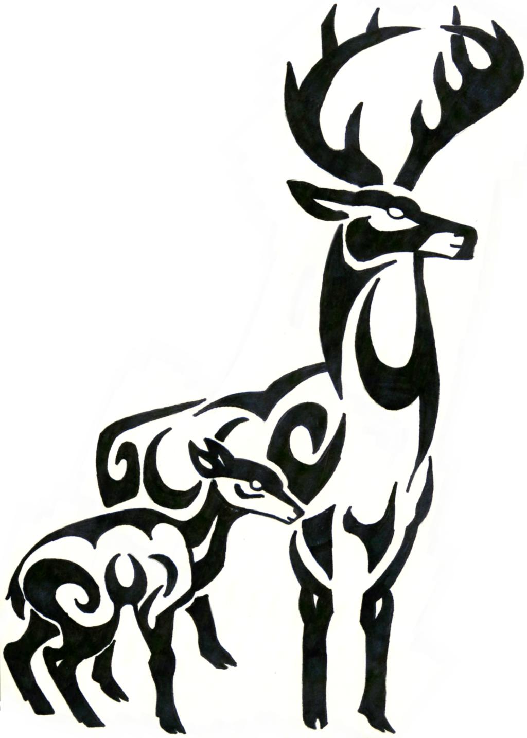 Tribal Deer - ClipArt Best