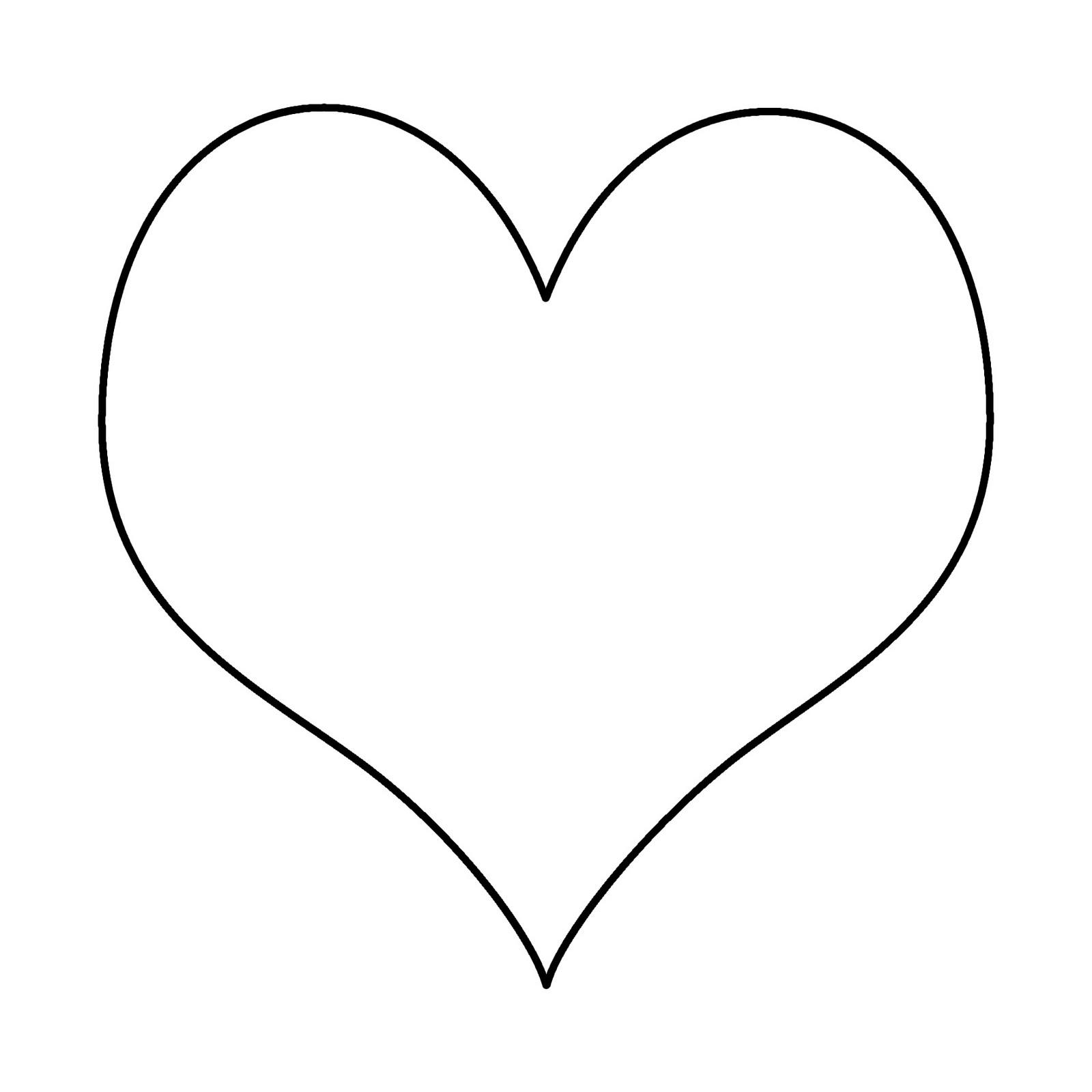 clip art heart template - photo #20