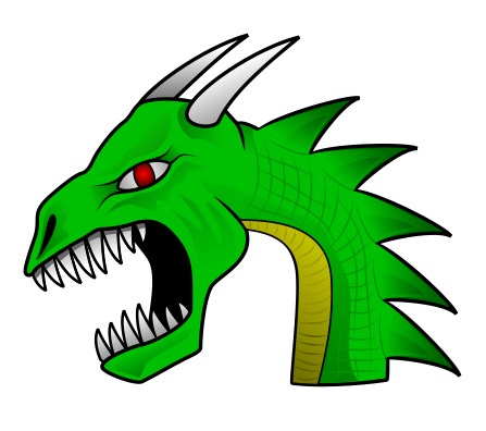 Animated dragon head - photo#7