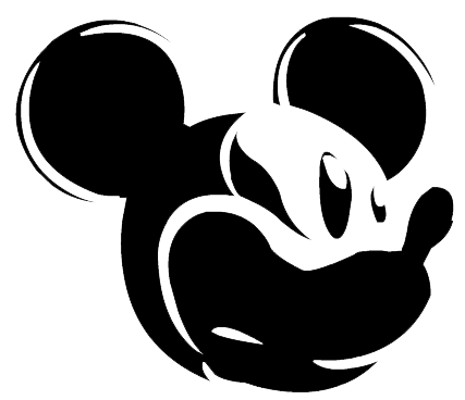 Mickey Mouse Black And White Clipart Mickey Mouse Face Clipart